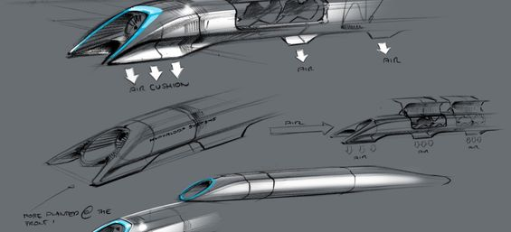 The Hyperloop - Credit : Elon Musk/SpaceX